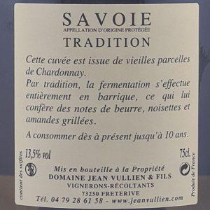 CHARDONNAY TRADITION étiquette