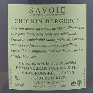 Chignin-Bergeron-les-Divolettes étiquette