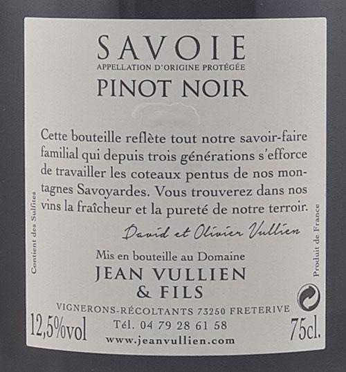 Pinot Noir étiquette